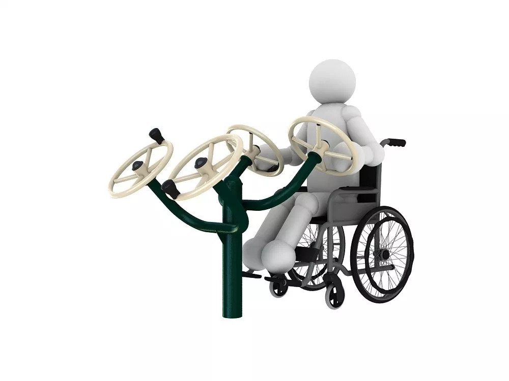 Outdoor Disabled Gym Equipment | Green Air