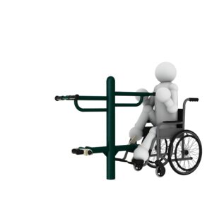 Bicycle2 Disabled Outdoor Gym Equipment | Green Air