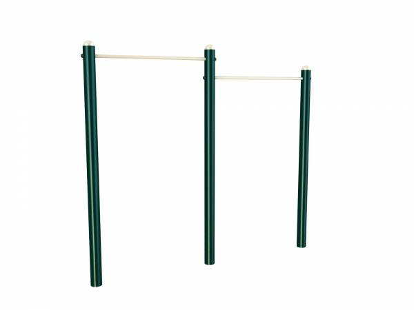 Double Pull Up Bars - Green Air