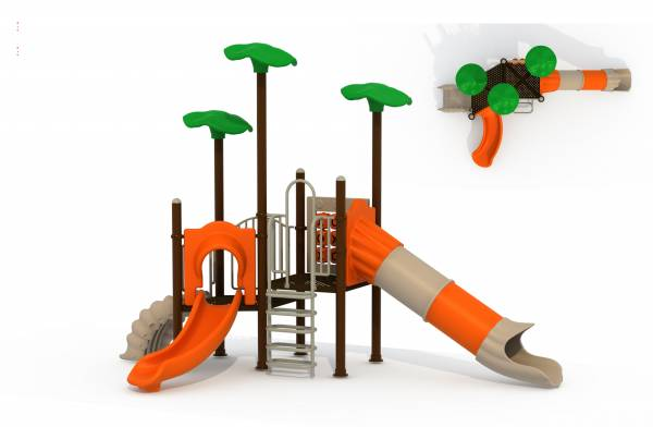 Outdoor Playground Equipment For Kids Giant Jungle Gym 011-Green Air
