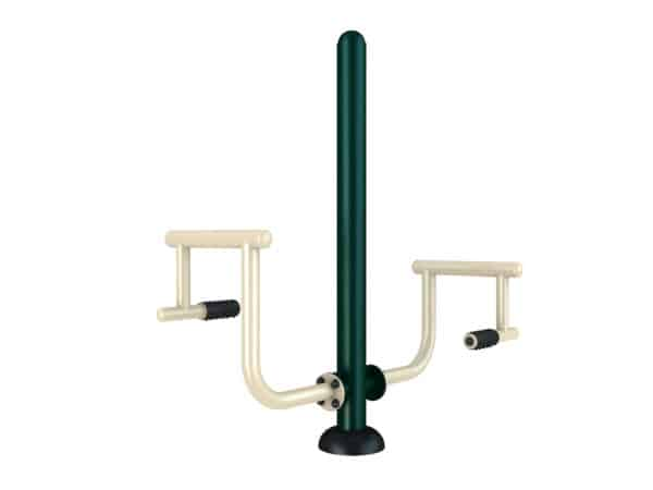 Outdoor gym equipment leg trainer - Green Air