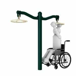 Overhu Rotating Wheel1 Disabled Outdoor Gym Equipment | Green Air