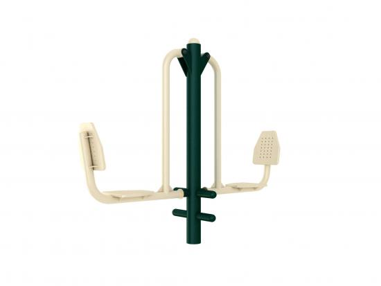 Outdoor gym equipment seated pedal trainer - Green Air