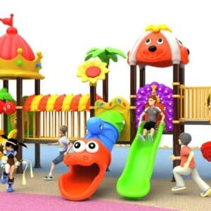 Giant Kids Playground with Green Slide