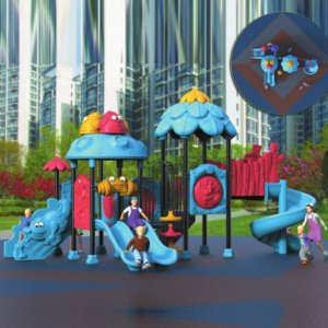 Giant Blue Jungle Gym
